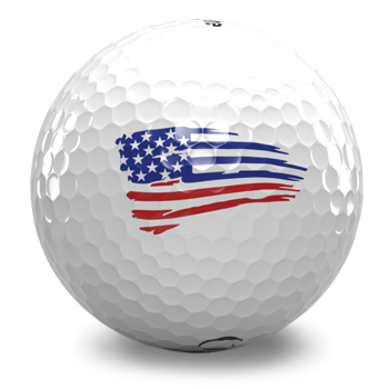USA Flag - Golf Ball